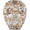 Swarovski Bead 5750 Skull 13mm Patina Rose Crystal